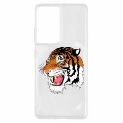 Чохол для Samsung S21 Ultra Tiger roars
