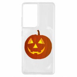 Чохол для Samsung S21 Ultra Тыква Halloween