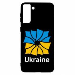 Чохол для Samsung S21 Ultra Ukraine квадратний прапор