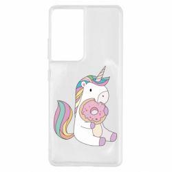 Чехол для Samsung S21 Ultra Unicorn and cake