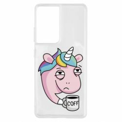 Чохол для Samsung S21 Ultra Unicorn and coffee