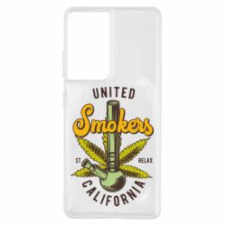 Чохол для Samsung S21 Ultra United smokers st relax California