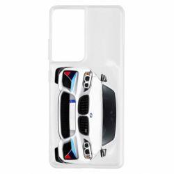 Чохол для Samsung S21 Ultra White bmw
