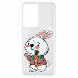 Чохол для Samsung S21 Ultra Winter bunny