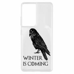 Чохол для Samsung S21 Ultra Winter is approaching and crow