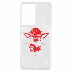 Чохол для Samsung S21 Ultra Yoda в навушниках