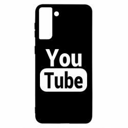 Чохол для Samsung S21 Ultra Youtube vertical logo