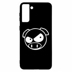 Чохол для Samsung S21 Ultra Зла свинка
