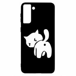 Чохол для Samsung S21 Ultra злий коте