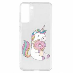 Чехол для Samsung S21+ Unicorn and cake