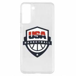 Чохол для Samsung S21+ USA basketball