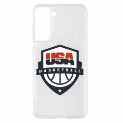 Чохол для Samsung S21 USA basketball