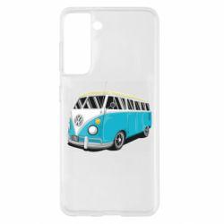 Чехол для Samsung S21 Vector Volkswagen Bus