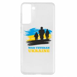 Чохол для Samsung S21+ War veteran оf Ukraine