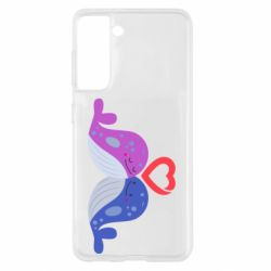 Чохол для Samsung S21 Whale with heart