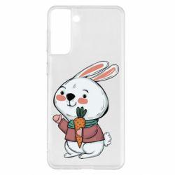 Чохол для Samsung S21+ Winter bunny