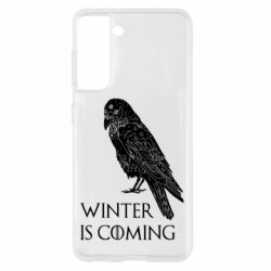 Чохол для Samsung S21 Winter is approaching and crow