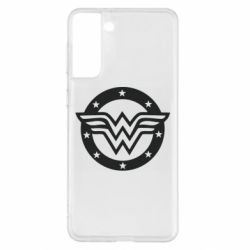 Чохол для Samsung S21+ Wonder woman logo and stars