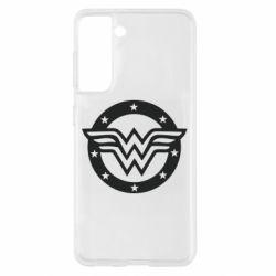Чохол для Samsung S21 Wonder woman logo and stars