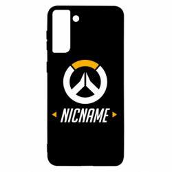 Чехол для Samsung S21+ Your Nickname Overwatch