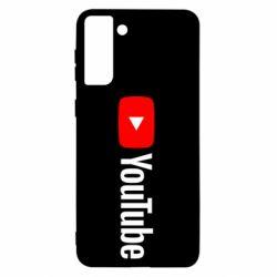 Чехол для Samsung S21+ Youtube logotype