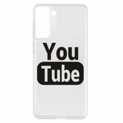 Чохол для Samsung S21+ Youtube vertical logo