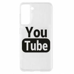 Чохол для Samsung S21 Youtube vertical logo