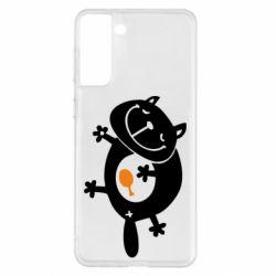 Чохол для Samsung S21+ Жирний кіт