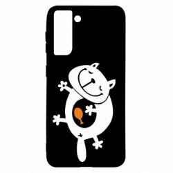 Чохол для Samsung S21 Жирний кіт