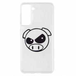 Чохол для Samsung S21 Зла свинка
