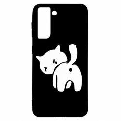 Чохол для Samsung S21 злий коте