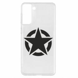 Чохол для Samsung S21+ Зірка Капітана Америки