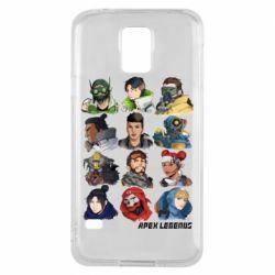 Чохол для Samsung S5 Apex legends heroes