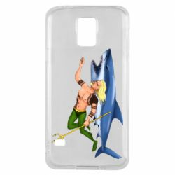 Чехол для Samsung S5 Aquaman with a shark