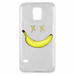 Чехол для Samsung S5 Banana smile