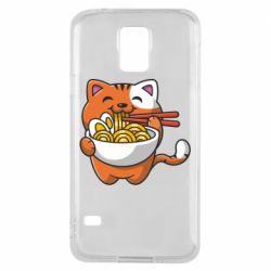 Чохол для Samsung S5 Cat and Ramen