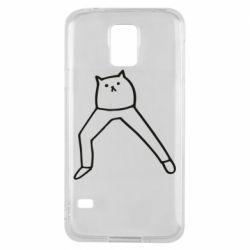 Чохол для Samsung S5 Cat in pants