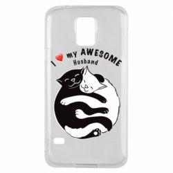 Чехол для Samsung S5 Cats and love