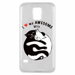 Чехол для Samsung S5 Cats with a smile
