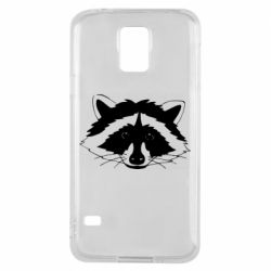 Чохол для Samsung S5 Cute raccoon face