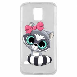 Чехол для Samsung S5 Cute raccoon