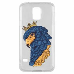 Чехол для Samsung S5 Eagle with a crown on its head