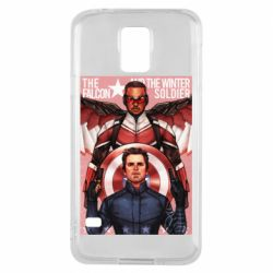Чохол для Samsung S5 Falcon and the Winter Soldier Art