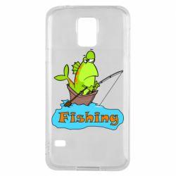 Чехол для Samsung S5 Fish Fishing