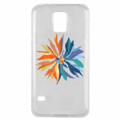 Чохол для Samsung S5 Flower coat of arms of Ukraine