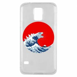 Чохол для Samsung S5 Godzilla Wave