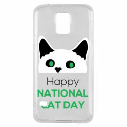 Чехол для Samsung S5 Happy National Cat Day