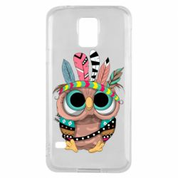 Чохол для Samsung S5 Little owl with feathers