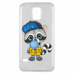Чехол для Samsung S5 Little raccoon