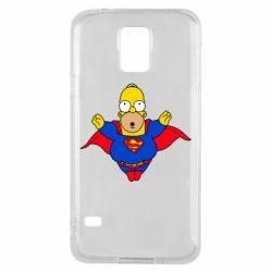 Чехол для Samsung S5 Simpson superman
